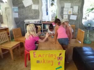 becc, jungle aid earing making fundraising