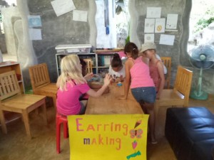 becc, jungle aid earing making fundraising